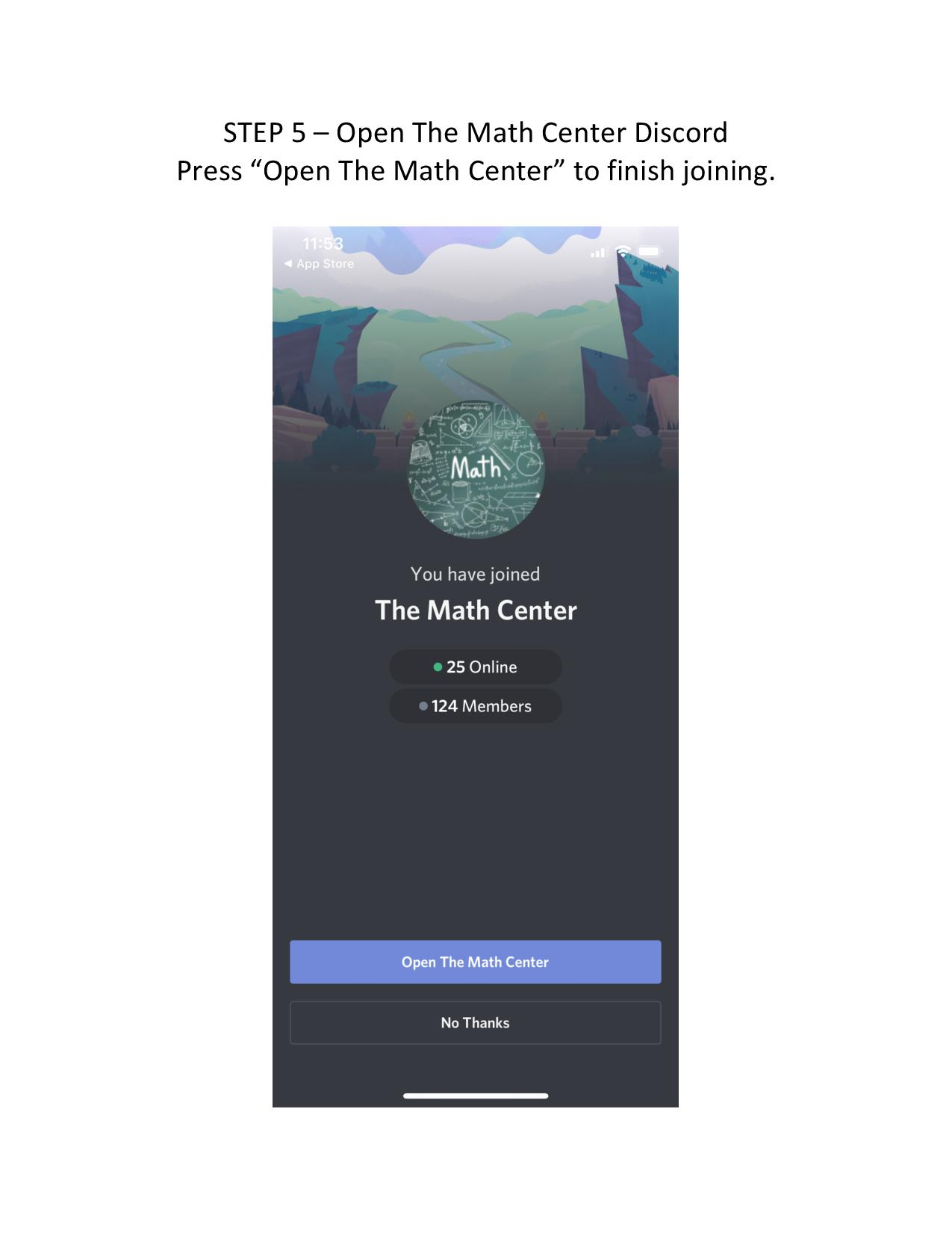 Join Our Discord The Math Center